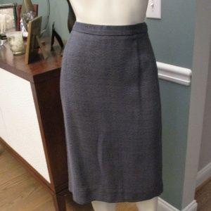 Prada NWT Ematite Gray Pencil Skirt 44 fits US 6